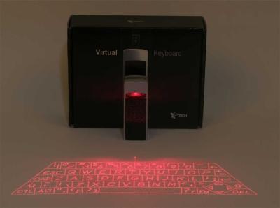 Virtuelles Keyboard, mit einem Laser erzeugt